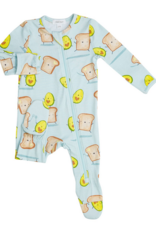 ANGEL DEAR AVOCADO & TOAST ZIPPER FOOTIE
