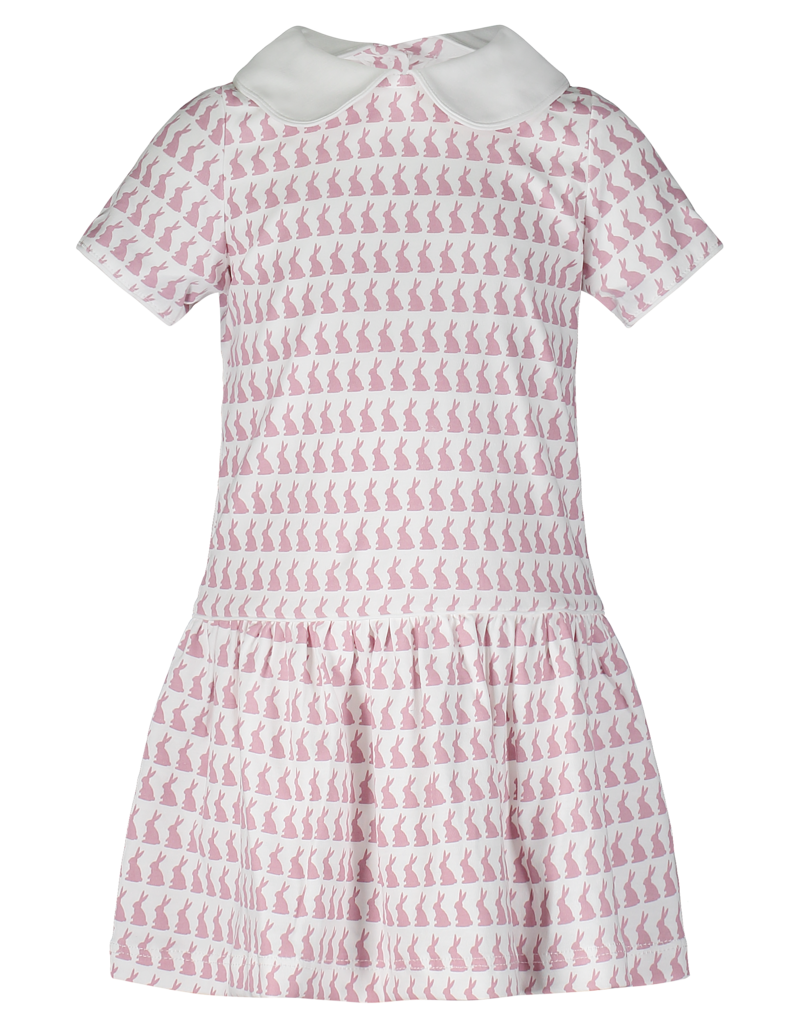 LILA & HAYES LIBBY PIMA DRESS W/PETER PAN COLLAR