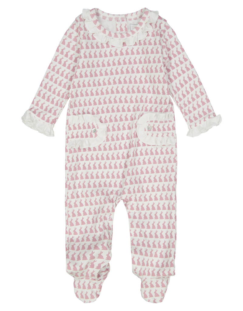 LILA & HAYES LUCY FOOTED ROMPER W/RUFFLES