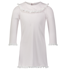 LILA & HAYES MADELINE  PIMA DRESS W/RUFFLED BIB COLLAR