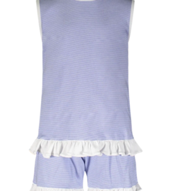 LILA & HAYES POPPY RUFFLED SWING TOP W/OPEN BACK & SHORTS
