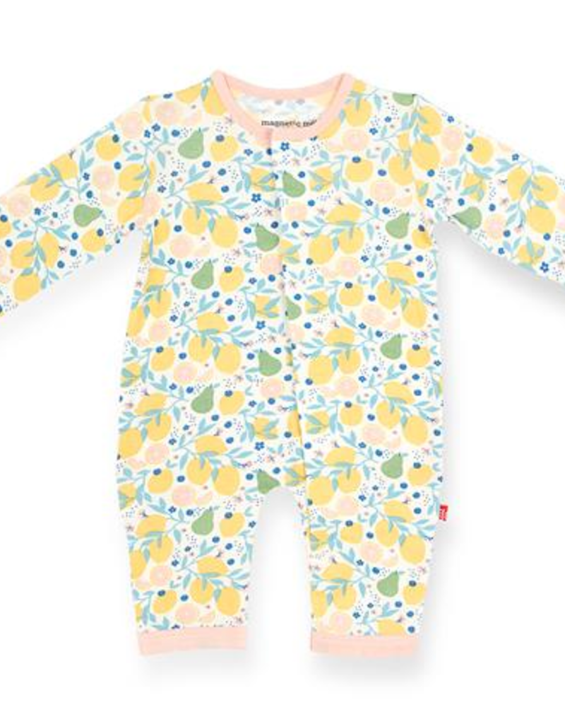MAGNIFICENT BABY  CITRUS BLOOM  MODAL COVERALL