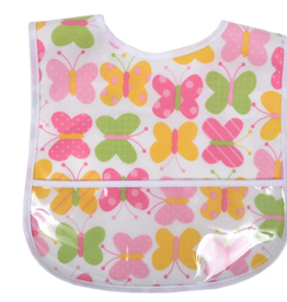 3 MARTHAS BUTTERFLY KISSES LAMINATED FEEDING BIB