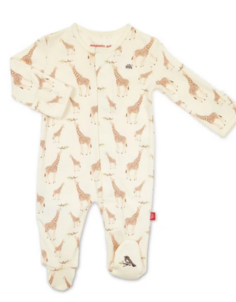 MAGNIFICENT BABY CREAM JOLIE GIRAFFE ORGANIC COTTON FOOTIE