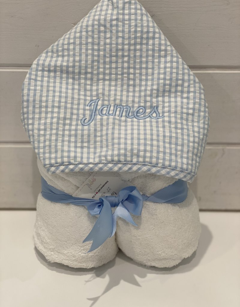 3 MARTHAS BLUE EVERYKID CHECK TOWEL