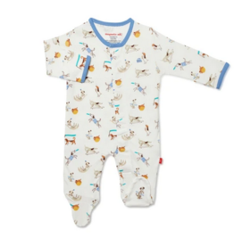 MAGNIFICENT BABY HOWLARIOUS ORGANIC COTTON FOOTIE