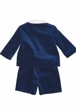 FLORENCE EISEMAN FLORENCE EISEMAN BOYS RIBBON WRAPPING VELVET  3 PC ETON SUIT