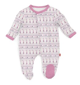 MAGNIFICENT BABY FOXY FAIR ISLE MODAL FOOTIE