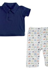 MAGNIFICENT BABY MAGNIFICENT BABY  BOYS BIKES MODAL POLO SHIRT WITH PANT