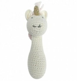 ALBETTA CROCHET UNICORN RAINBOW STICK  RATTLE