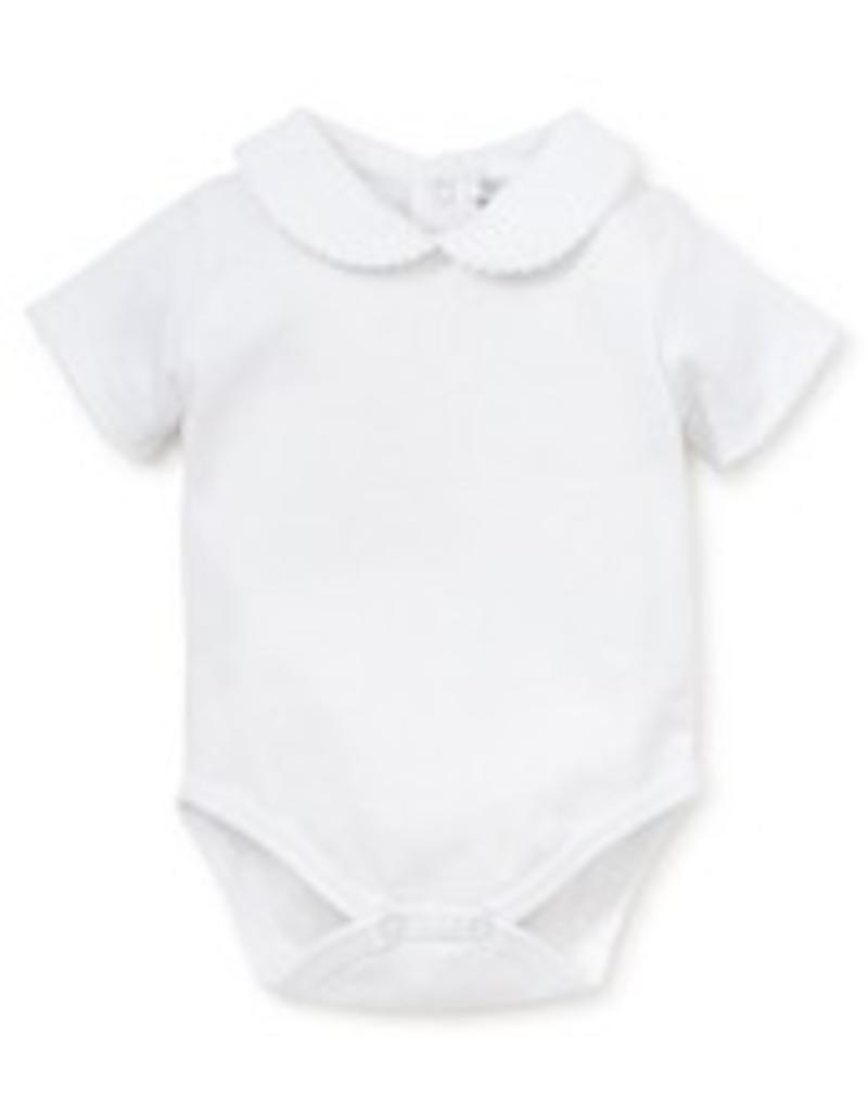 KISSY KISSY KISSY KISSY GIRLS SHORT SLEEVE BODY SUIT WITH BEBE COLLAR