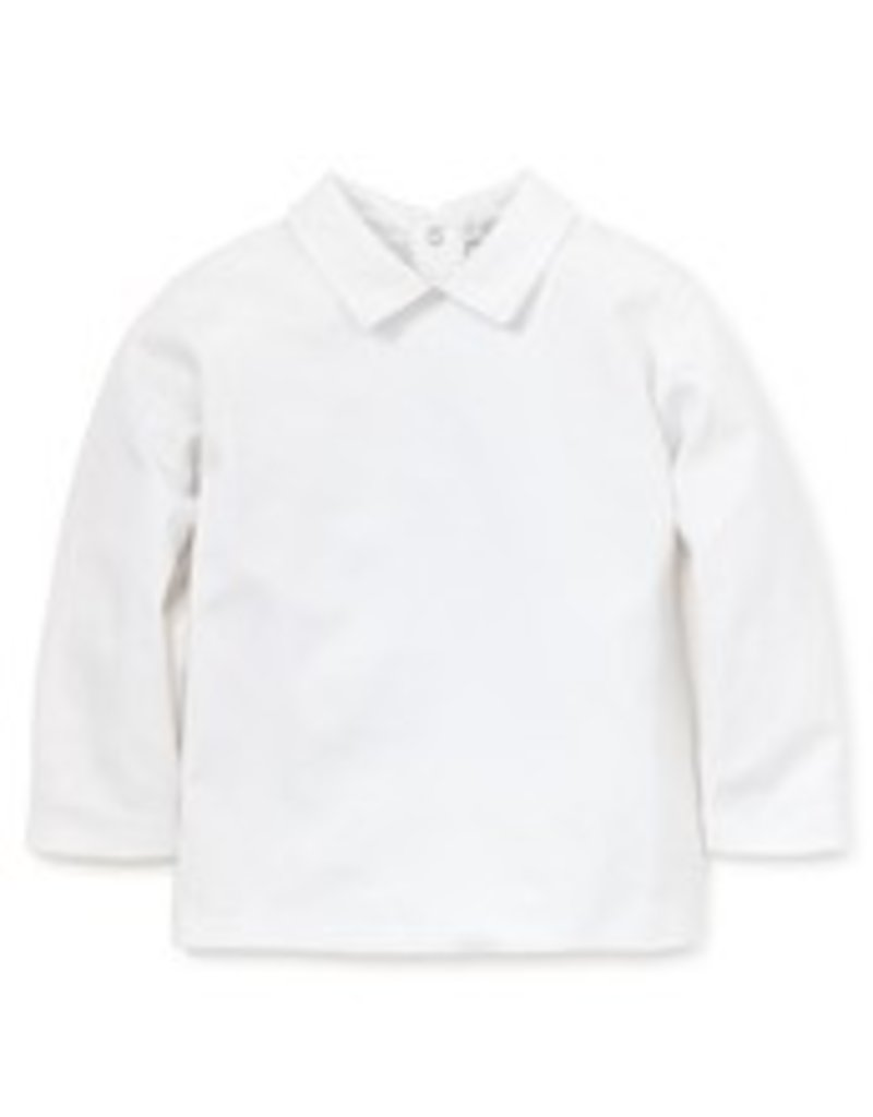 KISSY KISSY KISSY KISSY BOYS LONG SLEEVE  BASICS TEE WITH COLLAR