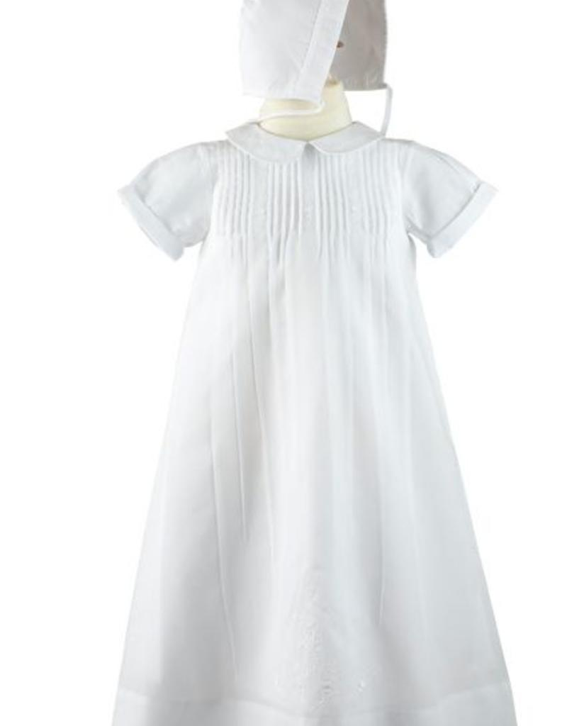 FELTMAN BROS FELTMAN BROTHERS EMBROIDERED COLLAR CHRISTENING GOWN W/HAT