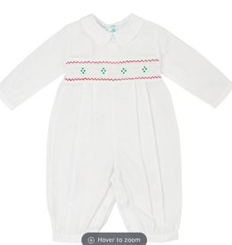 FELTMAN BROS LONG SLEEVE SMOCKED HOLIDAY LONGALL
