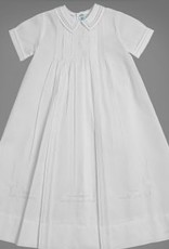FELTMAN BROS FELTMAN BROTHERS BOYS PLEATED CHRISTENING GOWN W/HAT