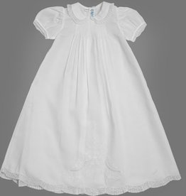 FELTMAN BROS GIRLS PIN TUCKED BODICE CHRISTENING GOWN W/HAT