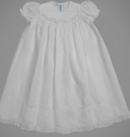 FELTMAN BROS GIRLS SMOCKED CHRISTENING GOWN W/HAT