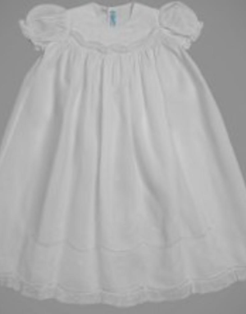 FELTMAN BROS FELTMAN BROTHERS GIRLS SMOCKED CHRISTENING GOWN W/HAT
