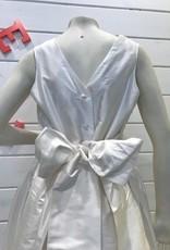 SUSANNE LIVELY SUSANNE LIVELY GIRLS SILK DRESS W/TRIM V-BACK