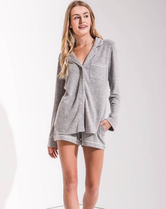 Menswear PJ Short - H. Grey