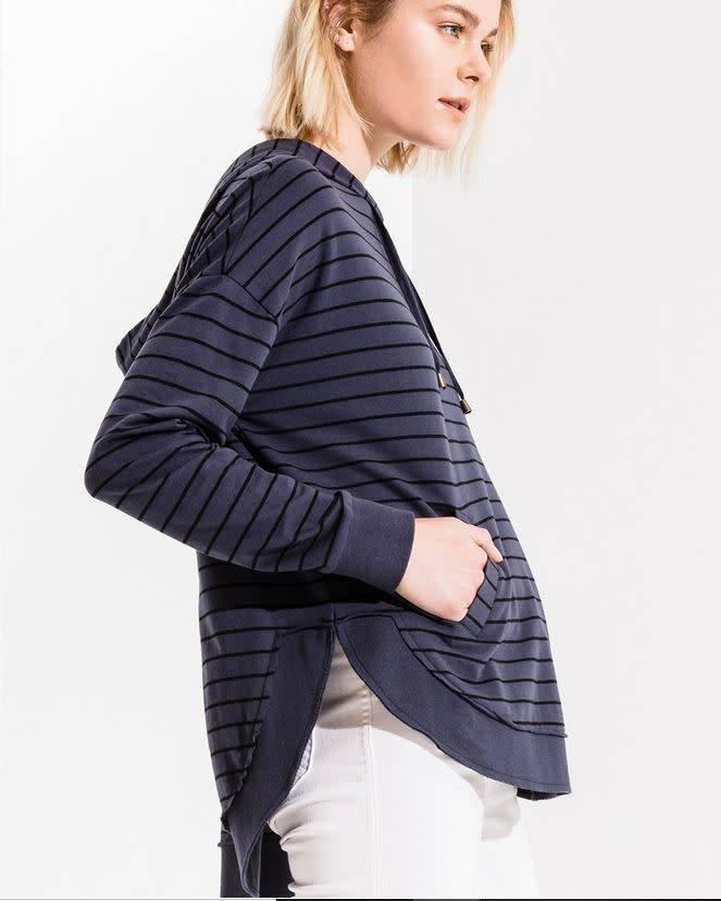 Striped Dakota Pullover - Indigo / Black