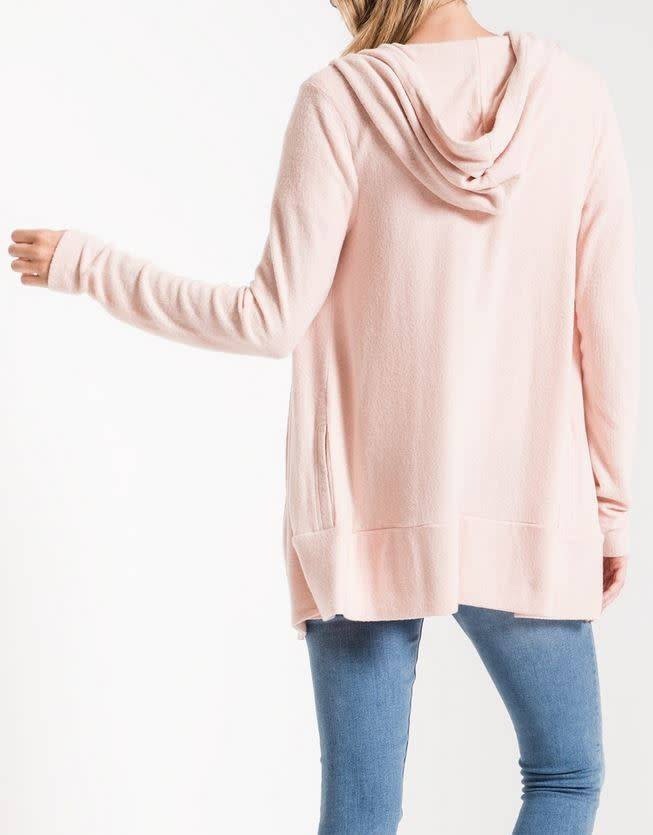 Sweater Knit Cardigan - Peachskin