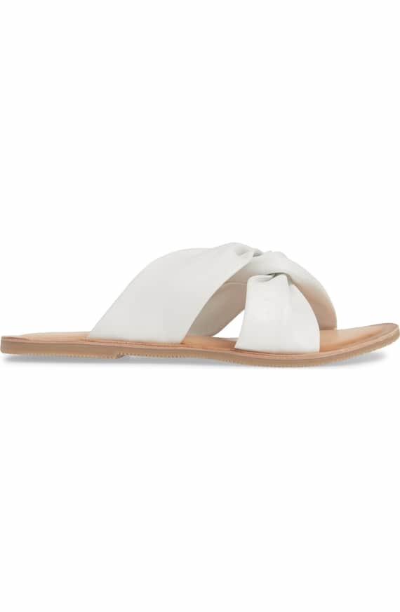 Mirage Slip on Sandal - White