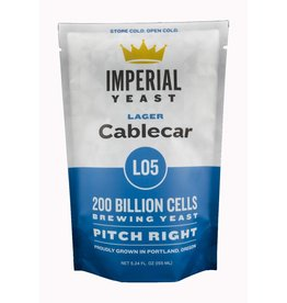 IMPERIAL YEAST IMPERIAL ORGANIC L05 CABLECAR LAGER