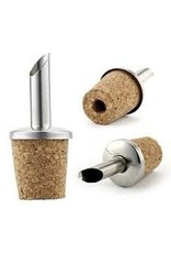 STAINLESS OLIVE OIL POURER WITH RUBBER BUNG (CORK SHOWN) 1 PER PACK