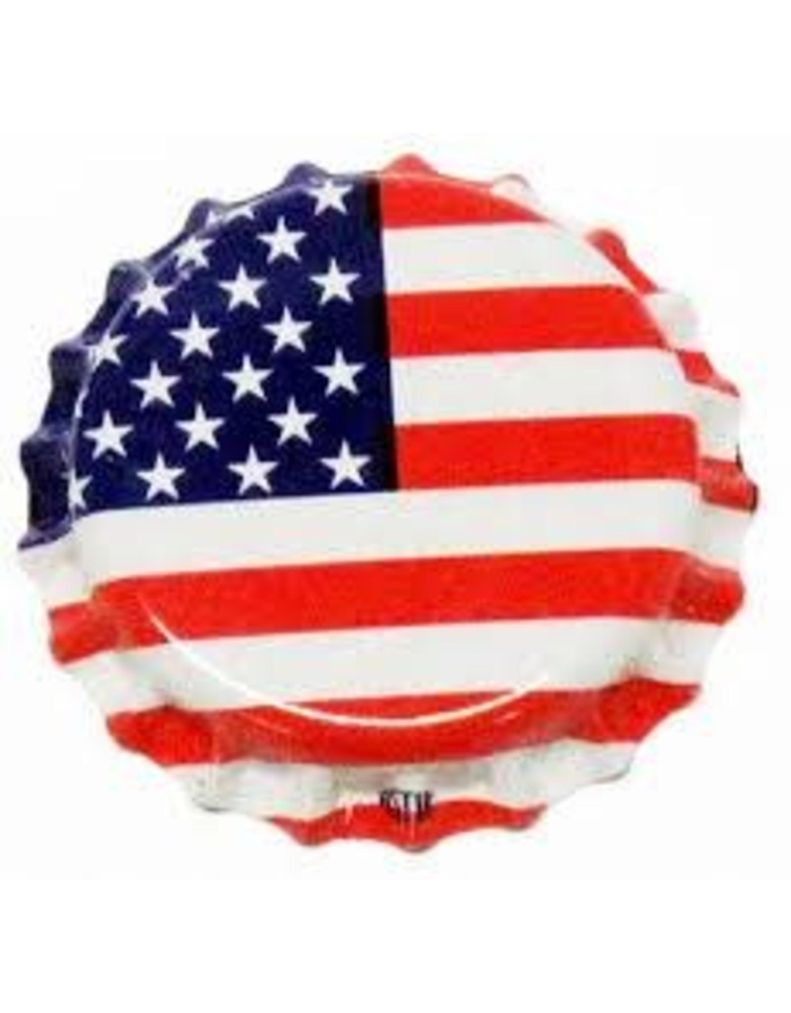 AMERICAN FLAG CROWN CAPS OXY