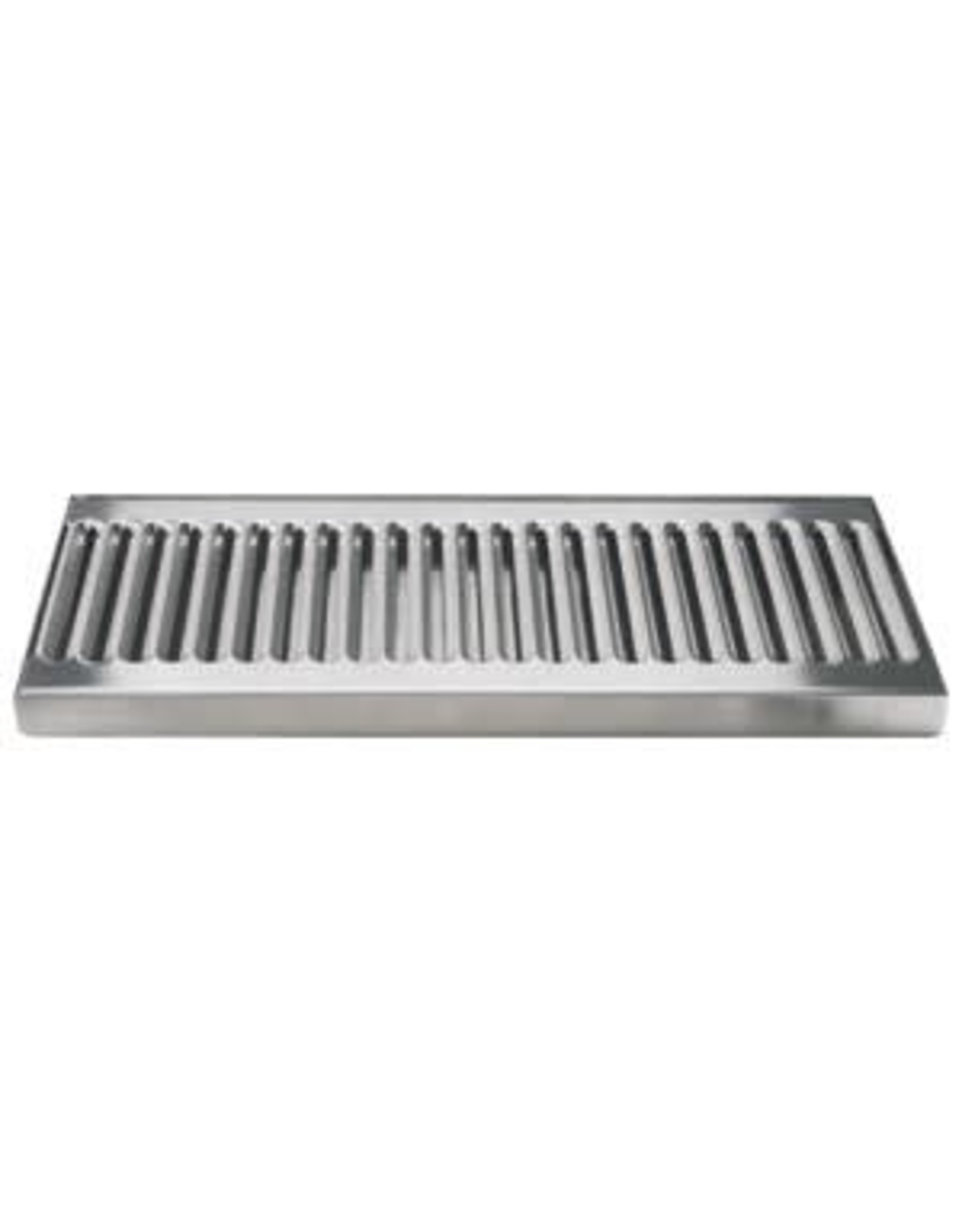 """12"""" SS DRIP TRAY WITH DRAIN"""