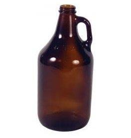 GLASS 1/2 GALLON JUG BROWN