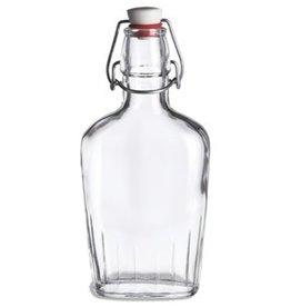CLEAR GLASS POCKET FLASK 17OZ