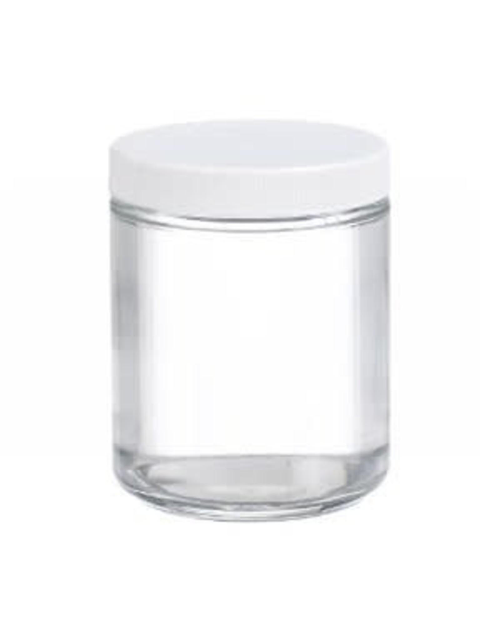 8 OZ GLASS JAR W/ PLASTIC LID