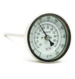 """SS THERMOMETER 6"""" STEM 1/2"""" MPT"""