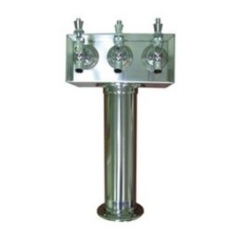 STAINLESS STEEL T TOWER 3 TAP