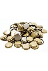 100 GOLD 29MM EUROPEAN CROWN CAPS