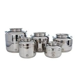 SUPERFUSTINOX 10L STAINLESS OLIVE OIL DRUM