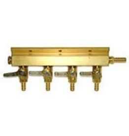 GAS MANIFOLD BRASS 4-WAY