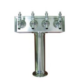 STAINLESS STEEL T TOWER 4 TAP