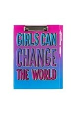 3 Cheers for Girls Girls Can Change the World - Clipboard Stationery Set