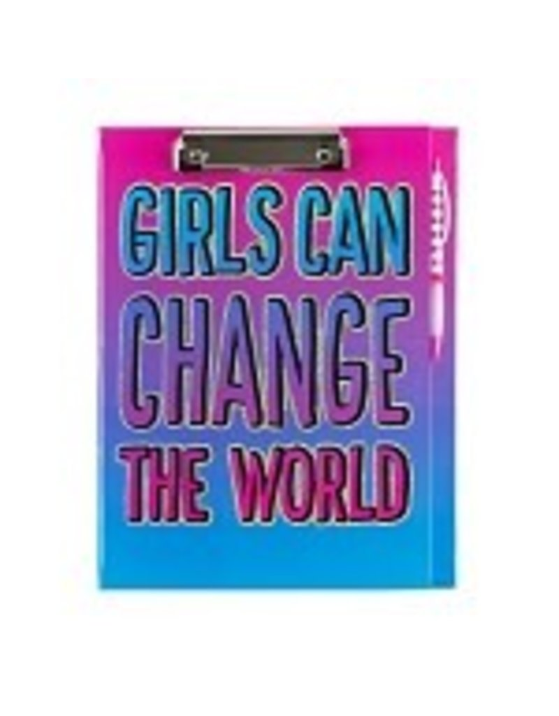 3 Cheers for Girls 3C4G Girls Can Change the World - Clipboard Stationery Set