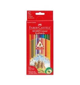 Faber-Castell Art Supplies - 12 Grip Colored EcoPencils