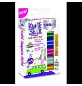 The pencil Grip Art Supplies - KwikStix Tempera Paint - 6 Metalix Colors