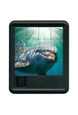 Family Games America Sliding Tile Puzzle - Deep Blue Sea - Dolphin