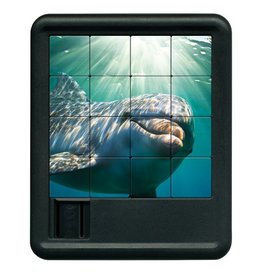 Family Games America Sliding Tile Puzzle - Deep Blue Sea - Dolphin