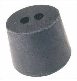 American Educational Products Rubber Stopper Size 10 - 2 Hole Black