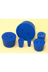 American Educational Products Rubber Stopper Size 8 - 2 Hole Blue