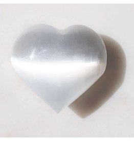 Squire Boone Village Rock/Mineral - Selenite Small Heart