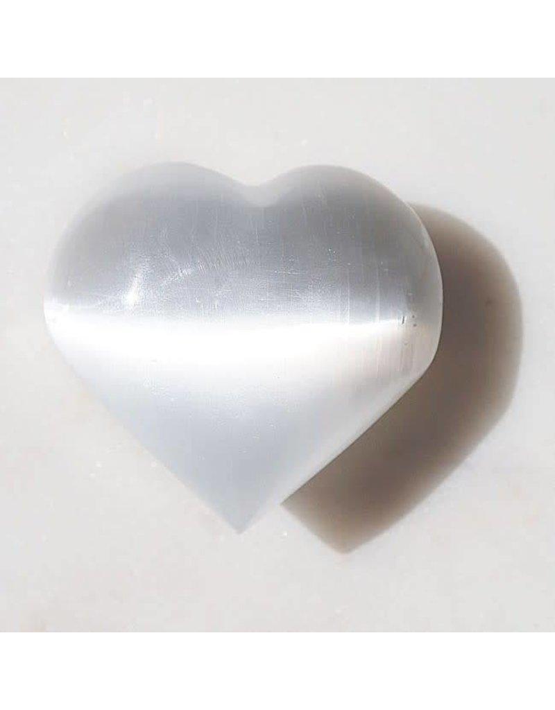 Squire Boone Village Rock/Mineral - Selenite Small Heart